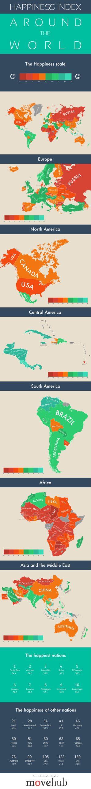 mappa della felicità nel mondo - consulentiolistici